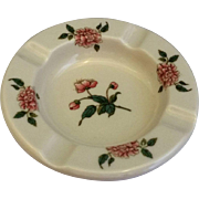 Syracuse Pink Carnation Floral Restaurant Ware Ashtray