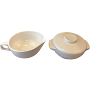 Harmony House Catalina White Melmac Cream Sugar Pair