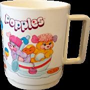 Popples Deka Plastics Mug 1980s Cartoon