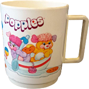 Popples Deka Plastics Mug 1980s Cartoon