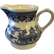 Churchill England Blue Willow Creamer Georgian Shape