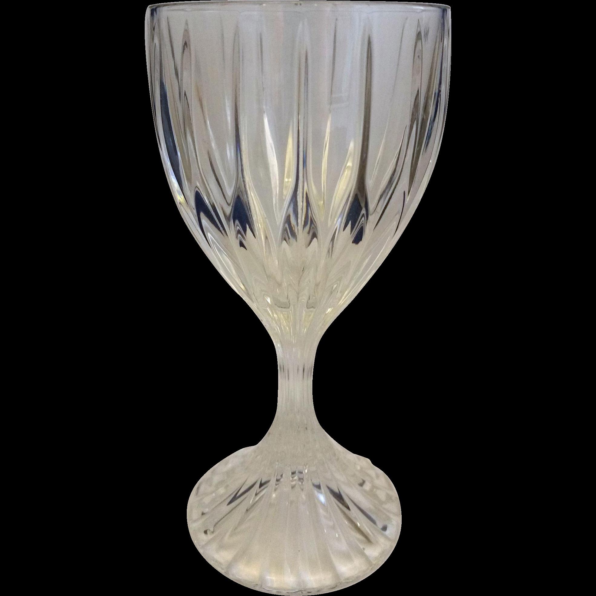 Mikasa Park Lane Crystal Goblet Wine Glass 6 3/8 IN