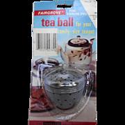 Fairgrove Stainless Steel Tea Ball 1970s Original Package