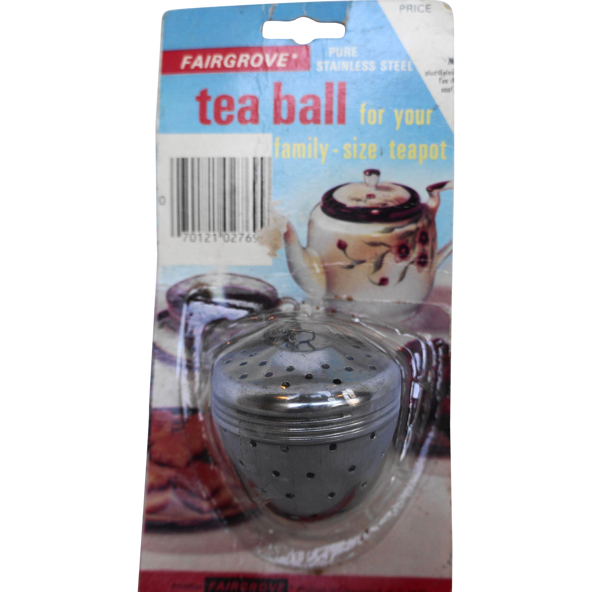 Fairgrove Stainless Steel Tea Ball 1970s Original Package