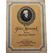 John Hancock Great American Patriot Biography Booklet John Hancock Mutual Life Insurance