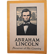 Abraham Lincoln Preserver of His Country Biographical Booklet John Hancock Insurance