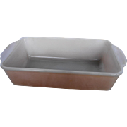 Fire King Anchor Hocking Peach Lustre Copper Tint Loaf Pan 1 QT 409