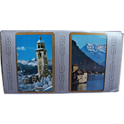 Switzerland Lake Geneva Chillon Castle St Moritz Church Tower Double Bridge Deck Cards AG Muller