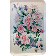 Made in Italy Melamine Floral Serving Tray by Angie Strauss