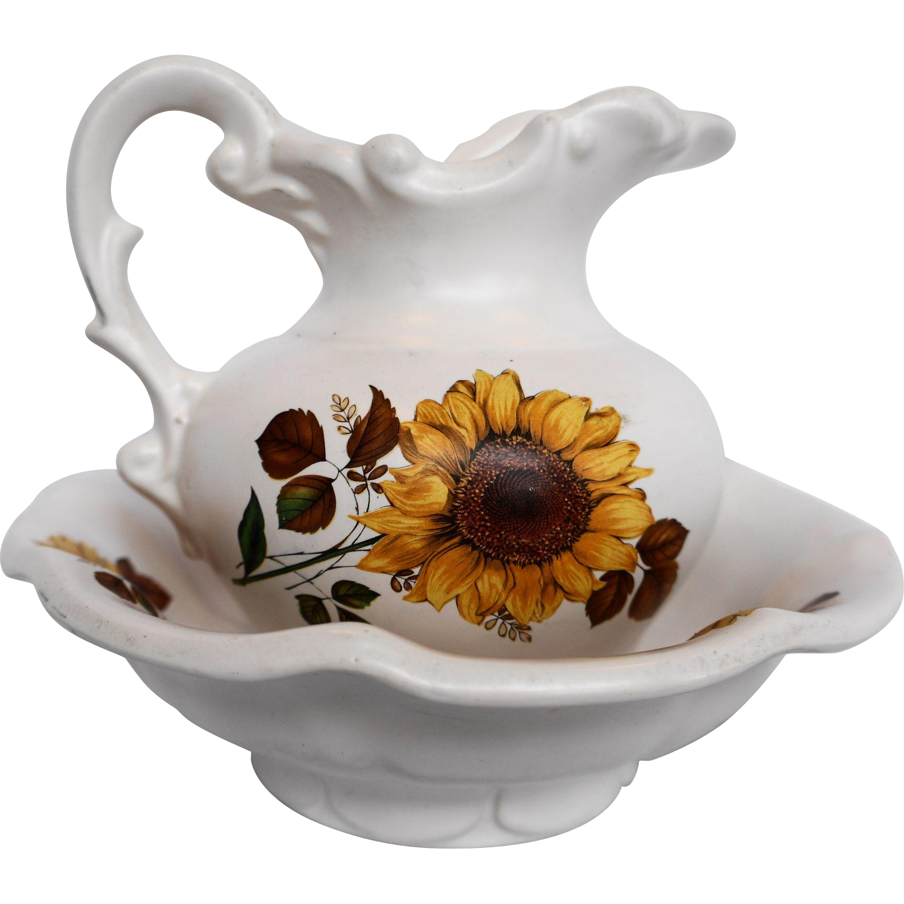McCoy Sunflower Mini Pitcher Basin Set
