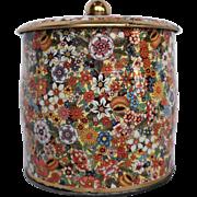 Daher Floral Chintz Biscuit Tin Barrel