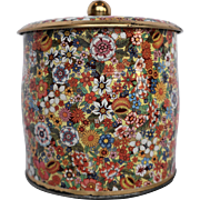 Daher Floral Chintz Biscuit Tin Barrel