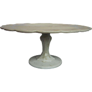 Indiana Teardrop Milk Glass Pedestal Cake Stand