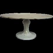 Indiana Teardrop Milk Glass Pedestal Cake Stand