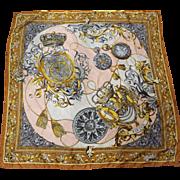 Romano Italian Designs Science Decorated Polyester Scarf Sola Virtus Invicta 34 IN