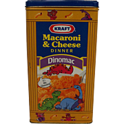 Kraft Macaroni Cheese Dinomac Vintage Tin