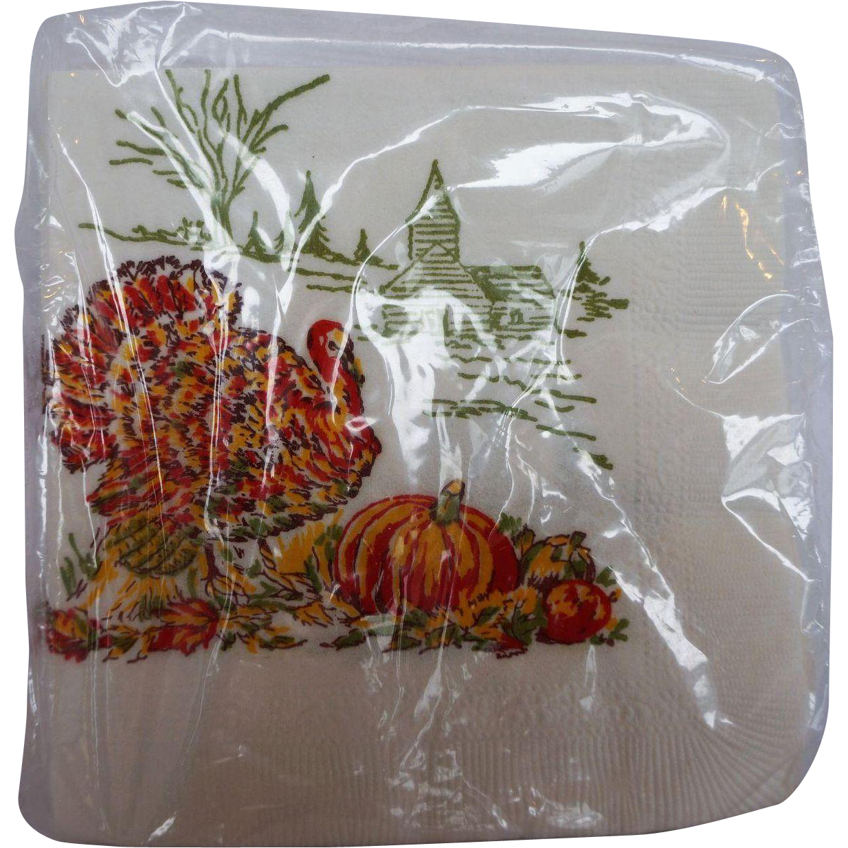Thanksgiving turkey paper napkins set of 24 mint original for Turkey napkins