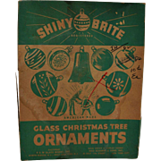 Shiny Brite Large Glass Ball Christmas Ornaments 2 Boxes Mixed Colors