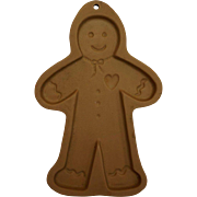 Gingerbread Man Brown Bag Cookie Art Mold 1992