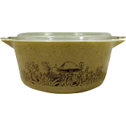 Pyrex Forest Fancies Brown Mushroom 2.5L 475 Cinderella Handle Covered Casserole