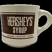 Hersheys Syrup Genuine Chocolate Flavor Advertising Mug - Red Tag Sale Item