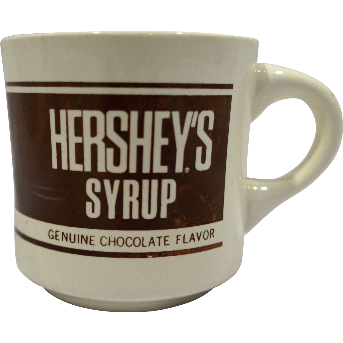 Hersheys Syrup Genuine Chocolate Flavor Advertising Mug