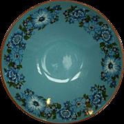Taylor Smith Taylor Azura Blue Floral Serving Round Vegetable Bowl