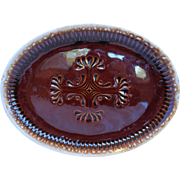 McCoy Brown Drip Oval Platter 13 IN 7062