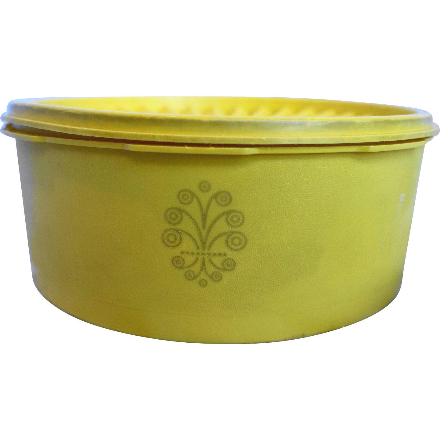 Tupperware Bright Yellow Servalier 8 Cup Canister 1204