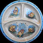 Winnie The Pooh Melmac Childs Divided Plate Hunny Pot Selandia Taiwan