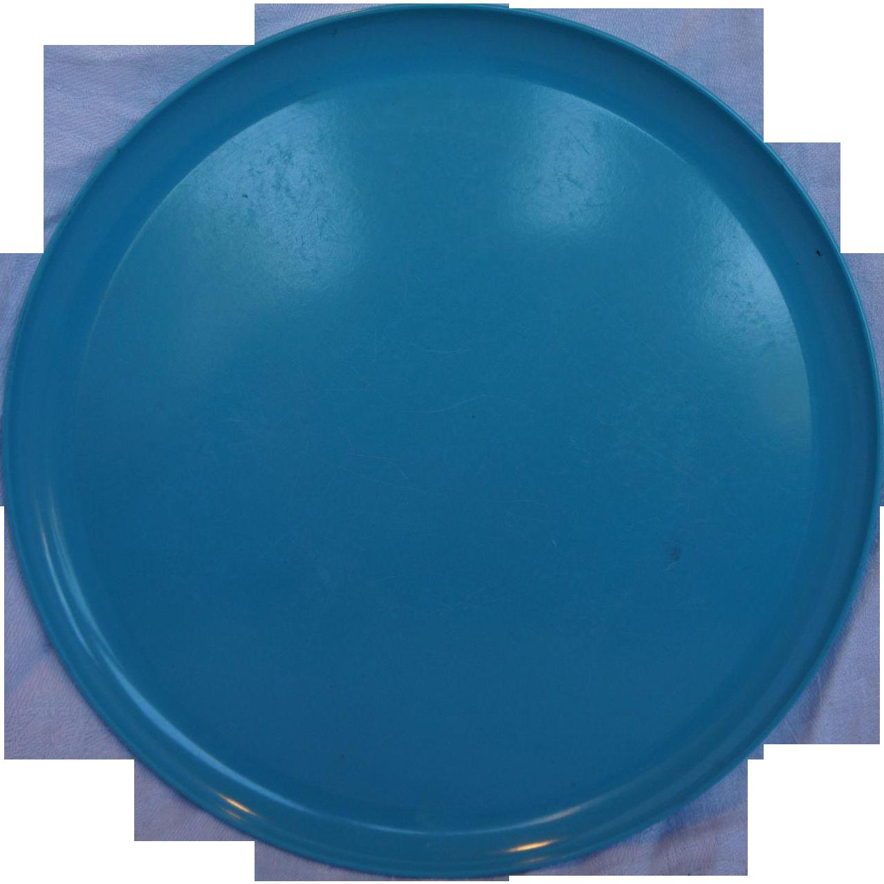 Spaulding Ware Turquoise Melmac Dinner Plate