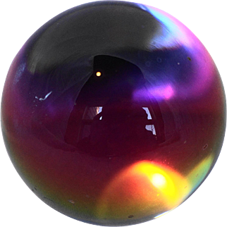Iridescent Clear Glass Ball Orb Paperweight
