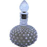 Fenton French Opalescent Hobnail Wrisley Cologne Bottle