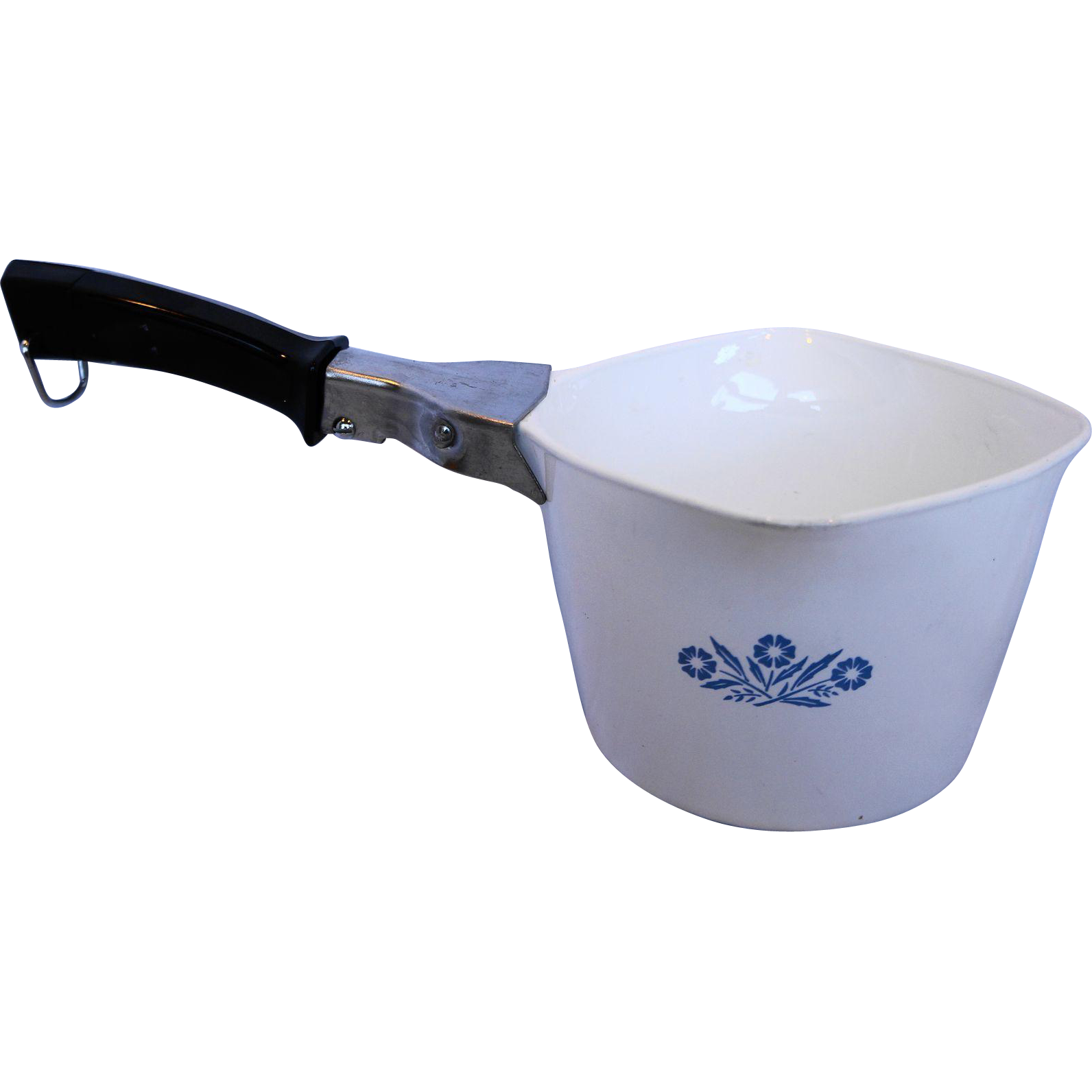 Corning Blue Cornflower Sauce Maker Pot With Handle