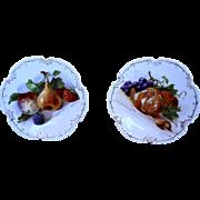 Fruit Transfer Marseille Zeh Scherzer Bavaria Small Cabinet Plates 7 IN Pair