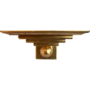 Gold Leaf Gilded Sconce Wall Shelf Art Deco Ball Tiered - Red Tag Sale Item