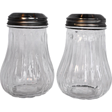 Anchor Hocking Restaurant Ware Clear Ribbed Shakers