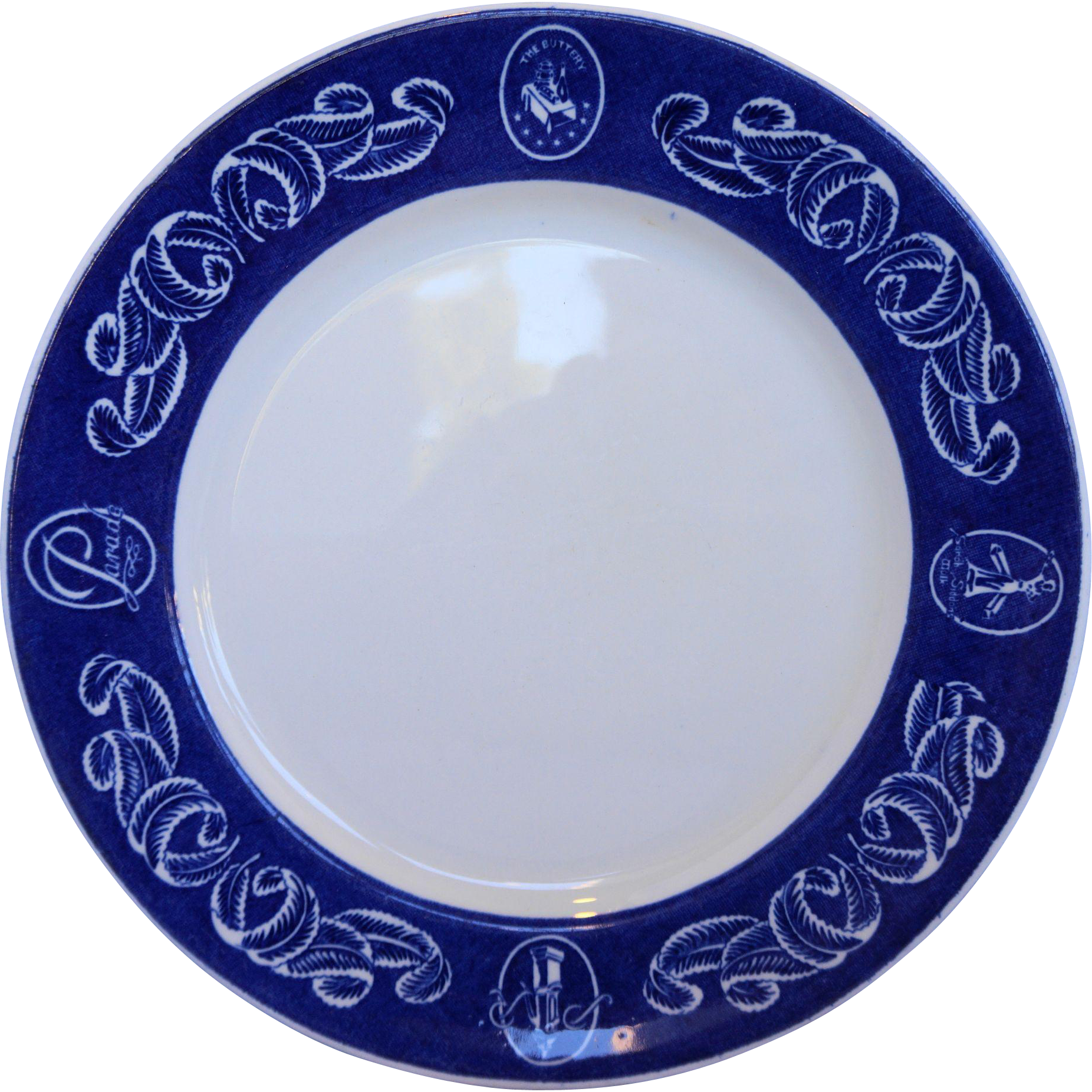Grindley Ambassador Hotel Chicago Dinner Plate Blue Rim Sarah Siddons The Buttery Parade Pump Room