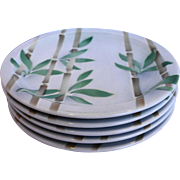 Syracuse Bamboo Dinner Plates Restaurant Ware Set of 5