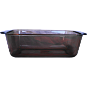 Pyrex Fireside Amber Brown Loaf Pan 1.5 QT 1.5L 213