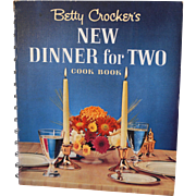 Betty Crocker New Dinner For Two Spiral Hard Bound Cook Book First Edition Second Printing 1964
