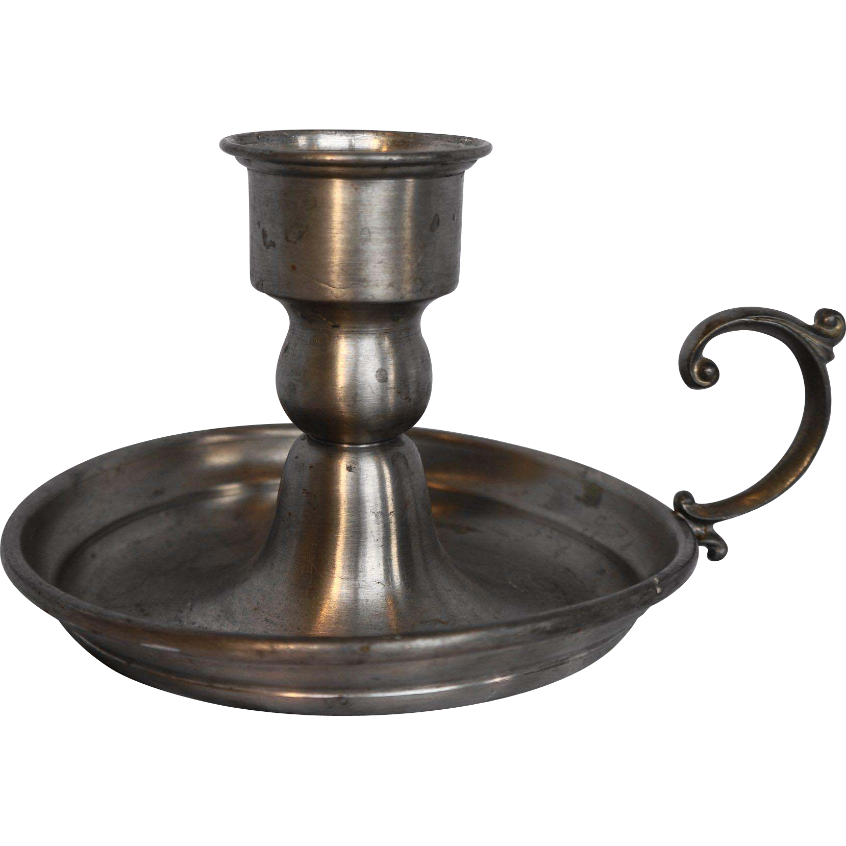 Leonard Pewter Made In Bolivia Chamber Candlestick Candle