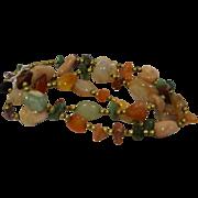 Semi Precious Stones Nugget Beads Mixed Necklace