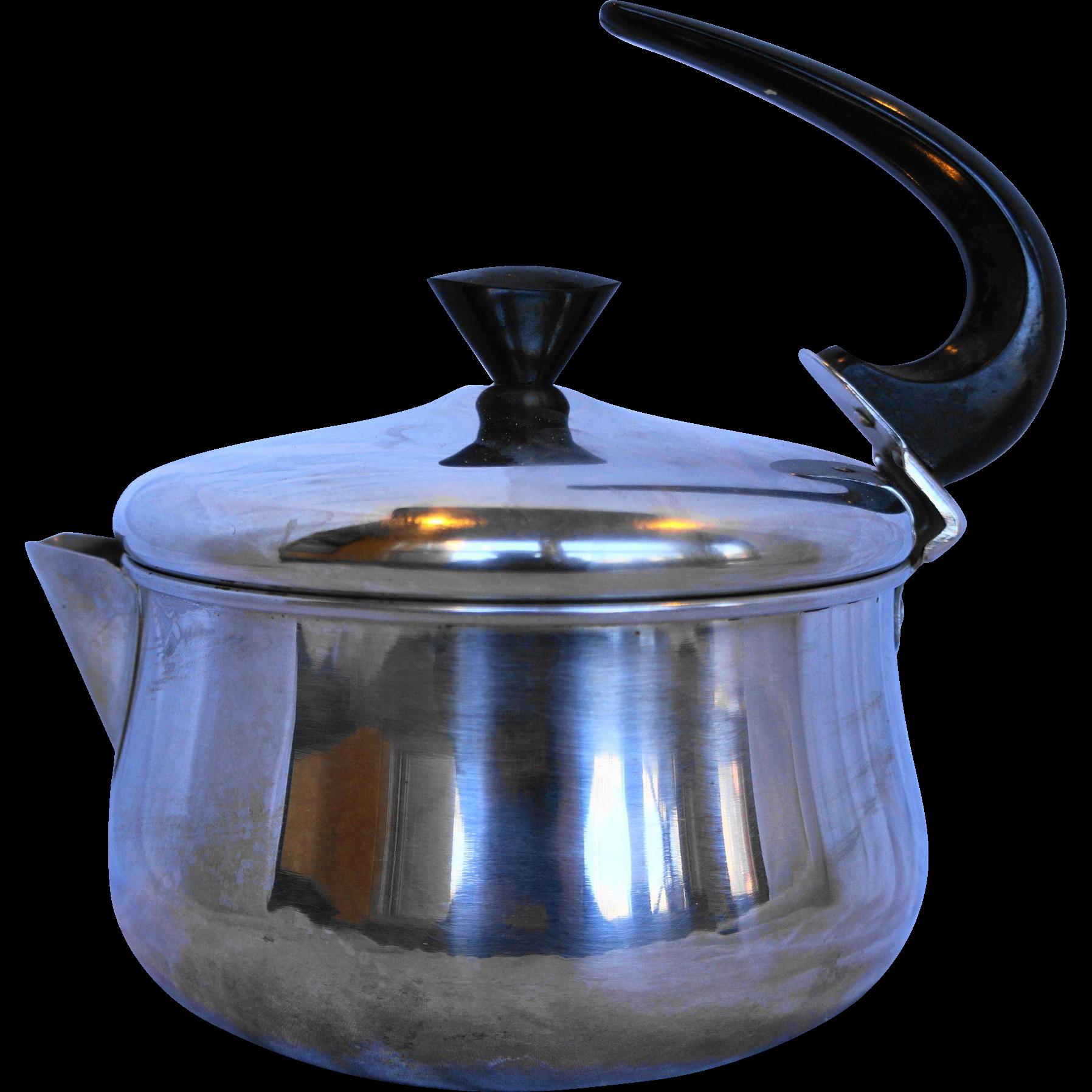 Vintage Farberware Tea Pot - 2 qt. Stainless Steel Tea Kettle 762