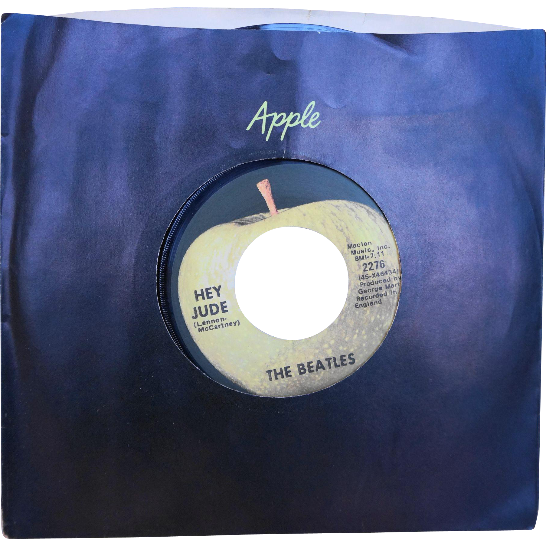 The Beatles Hey Jude Revolution Apple Records Vinyl 45 RPM 2276