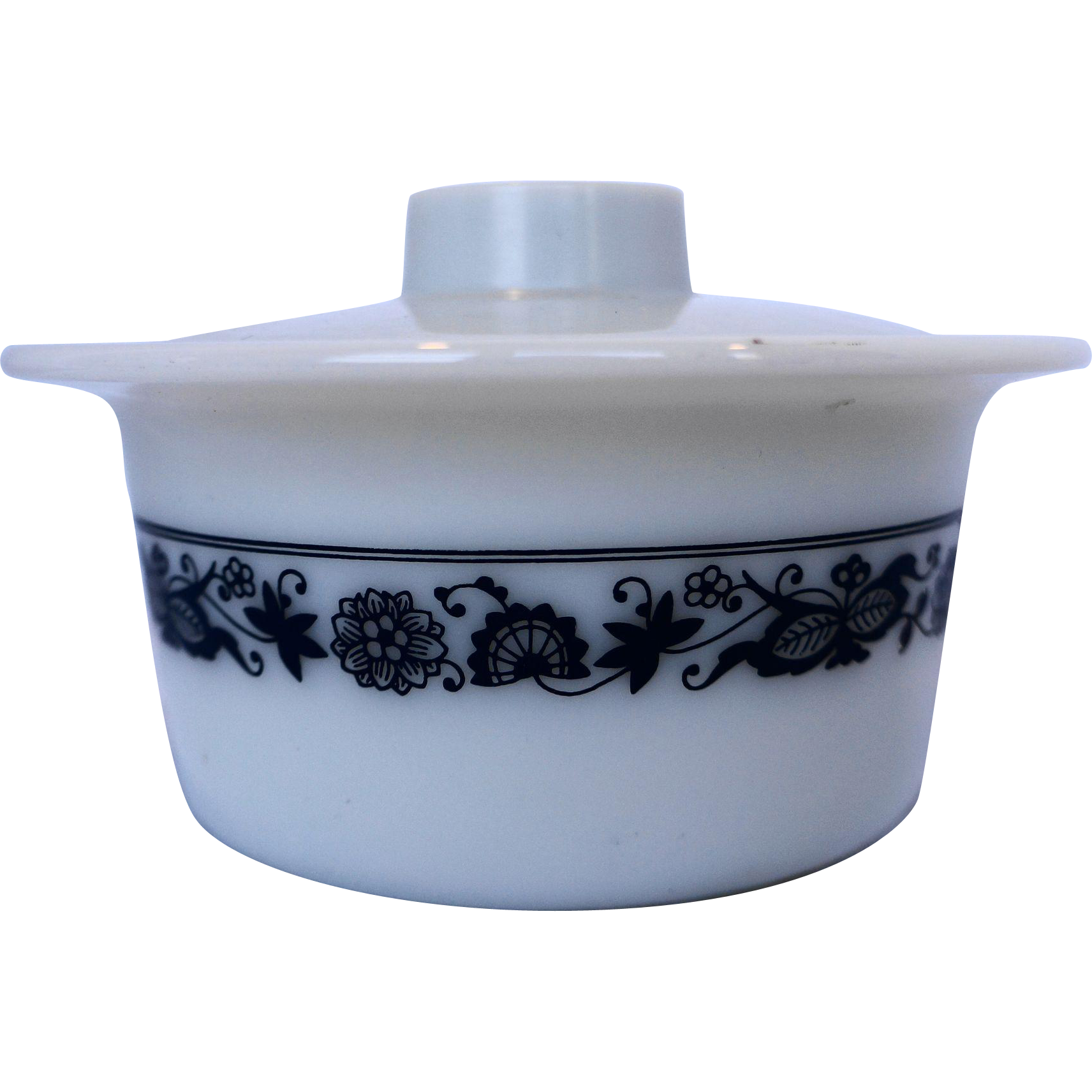 Pyrex Old Town Blue Onion Butter Margarine Tub With Lid