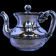 Meriden Britannia Silver Plate Coffee Pot 1 Pt