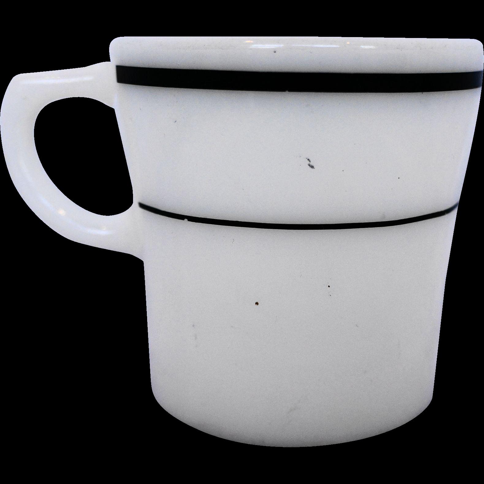 Pyrex Corning Tableware Green Stripe Band Mug