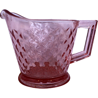 Imperial Glass Diamond Quilted Pink Depression Glass Creamer