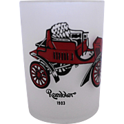 Hazel Atlas Frosted Shot Glass Antique Auto Rambler 1903